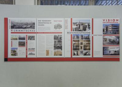 Der Tafelkomplex zum Thema Crimmitschau und sein Warenhaus