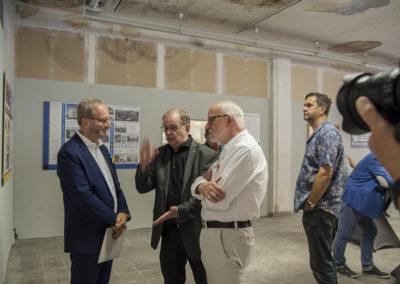 Vertreter des Werkbundes Sachsen: Matthias Horts, Bernd Sikora und Ludger Kilian
