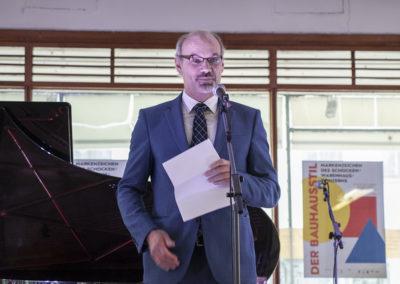 Landeskonservator Alf Funkert bei seinem Grußwort