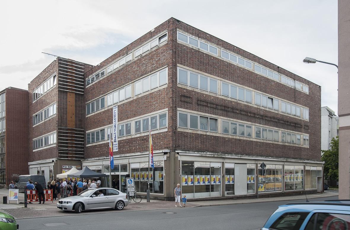 Aktueller Zustand des ehemaligen Schocken-Warenhauses in Crimmitschau